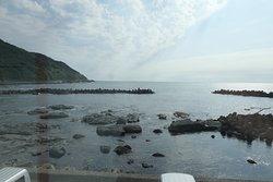 水族館から見える海岸の風景。
