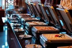 Lavish lunch and dinner buffets served daily