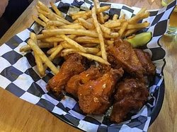 Lunch special this week.  6 Jumbo wings and fries for $10! (Week ending 8/24/19)