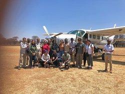 Photo enthusiasts and participants of Tanzania birding and migration safari tour