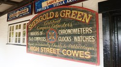 Lots of olde-worlde signs and machines