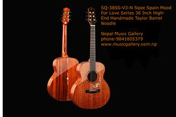 SQ-38SS-V3-N Sqoe Spain Mood For Love Series 36 Inch High-End Handmade Taylor Barrel Noodle  https://musicgallery.com.np/product/sq-38ss-v3-n-sqoe-spain-mood-for-love-series-36-inch-high-end-handmade-taylor-barrel-noodle/