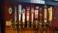 10 taps, seasonal brews available.