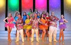 The full cast of Principals & Dancers from the Starburst show, come together for this photograph