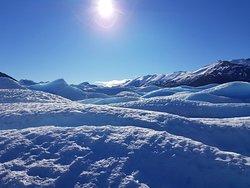 Foto tomada durante el recorrido, sobre el glaciar.
