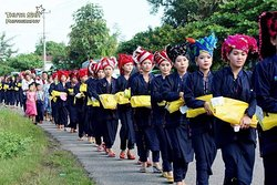 Traditional procession in shan state!