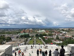 A High Sanctuary Place to Pray with a Stunning View of the City of Montreal Below