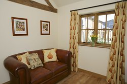 Gamekeeper's living area.  Our smallest cottage, perfect as a base for travelers!
