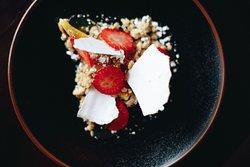 Lemon Tart, Strawberry and Meringue