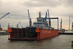 Weiteres fas fertiges Militärschiff