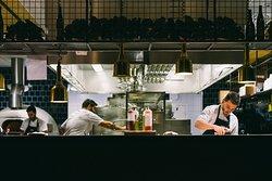 Härligt öppet kök