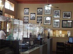 Interior displays at the Ben Hogan Museum of Dublin, Texas.