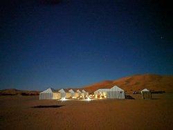 Luxury desert camp in the sahara