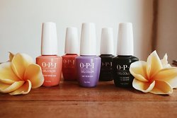 You can add OPI gel polish to your manicure and pedicure or just paint your nails.
