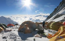 Camp 4 of mount Everest