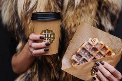 Liege waffle and coffee to take away