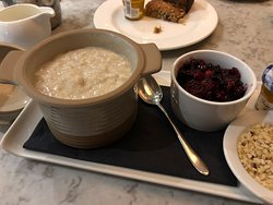 Very accommodating; for breakfast, wait staff delivered hot oatmeal with crushed nuts and cranberries.