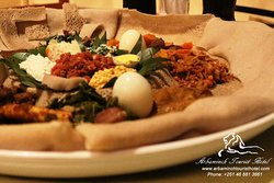 Ethiopian Traditional Meal: Byayinet at Arbaminch Tourist Hotel