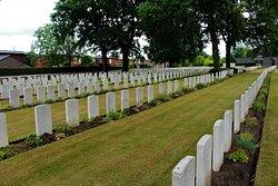 vista general del cementerio de la zona Britanica