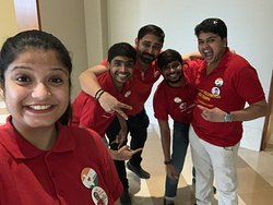 The incredible WOB Team in Red works with dedication and happiness so that our esteemed guests have a fulfilling experience!!