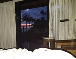 This is why to get the non-ground level, Westward facing, partial ocean view room.