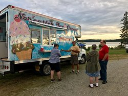 Ice cream truck visits once a week