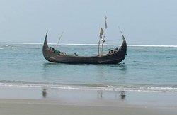 Shampan  Cox's Bazaar The largest sea beach in the world. It's 23 KM long. Bangladesh
