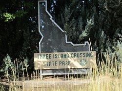 Signage at entrance of park