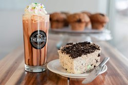 Decadent Hot Chocolate with Rainbow Sprinkles and... *The Bullet Oreo Rice Krispie made with love!
