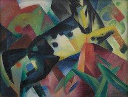 Franz Marc, Springendes Pferd, 1912,  Franz Marc Museum, Kochel a. See,  Stiftung Etta und Otto Stangl
