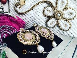 Gioielli di Sicilia. Preziosi orecchini con pendente. Ogni bijoux è originale ed esclusivo ed in vendita solo presso Atelier Favignana.