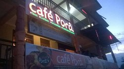 Outside  View of  Cafe Pora during evening Hours