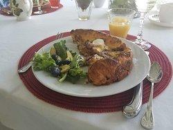 Two lovely vegetarian breakfasts:)