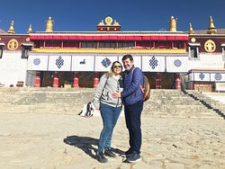 Enviado's Family from Chile and Mexico Visiting Drepung Monastery