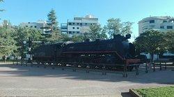 Máquina  de tren a vapor.