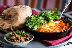 Mezze — Shaksuka with Duck Egg