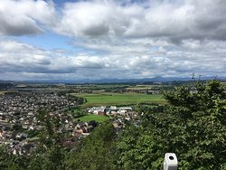 View of the valley below and Stirling University