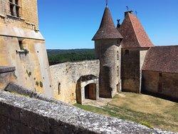 à notre arrivée dans le château.