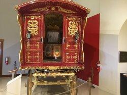 Inside gypsy carriage.