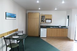 Kitchenette and Dining Area in Executive One Bedroom Unit
