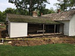 The original home is under repair