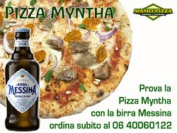 Pizza Myntha con la Birra Messina. Da provare!