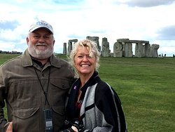 My happy couple enjoying their private guided tour around Stonehenge