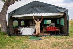 Abdullah at the mess tent.