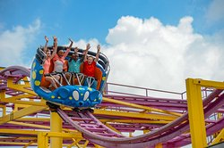 Crazy Mouse is the combination of a Tilt-a-Whirl and roller coaster- lots of fun for the entire family.