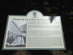 Info board for the Fuente de los Canos San Francisco fountain