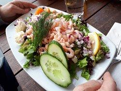 Räksmörgås 245 kr på Restaurang Skagerack, Strömstad