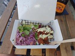 Katsu Chicken with Mayo, House Slaw and Salad