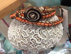 Lantern Arts, Kristen McNutly. Surry, Maine Triple wrap leather bracelet