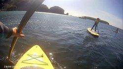 Paddle Boarding at Mullion Cove.